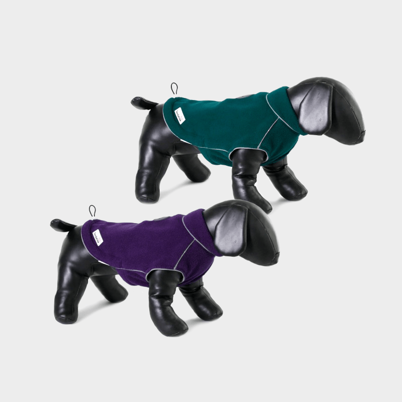 Beide Farben der Fleecy Fleece-Hundejacke von Doodlebone®