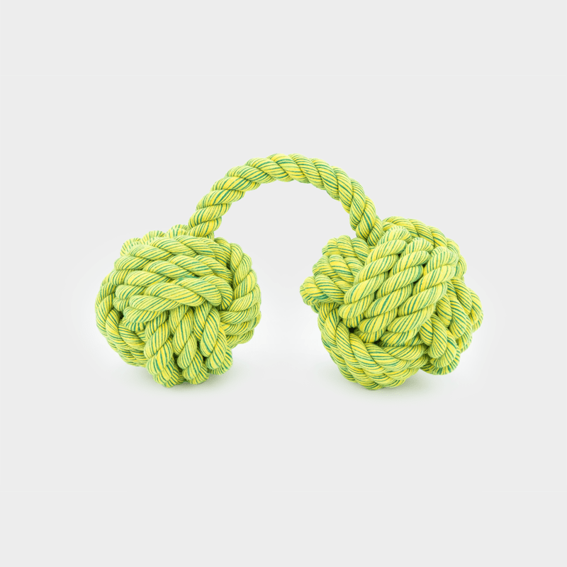 Hängendes grüner Nuts for Knots Kingsize Doppelball von Happy Pet