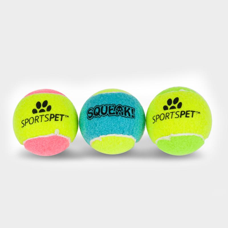Tennisball 65 mm Ø mit Quietscher von SPORTSPET