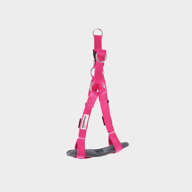 Neon-pinkes, gepolstertes Geschirr Bold von Doodlebone®