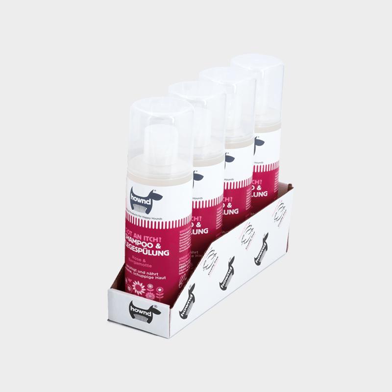 Tray 4 x 250 ml natürliches Shampoo & Pflegespülung Got An Itch? von HOWND für Senioren