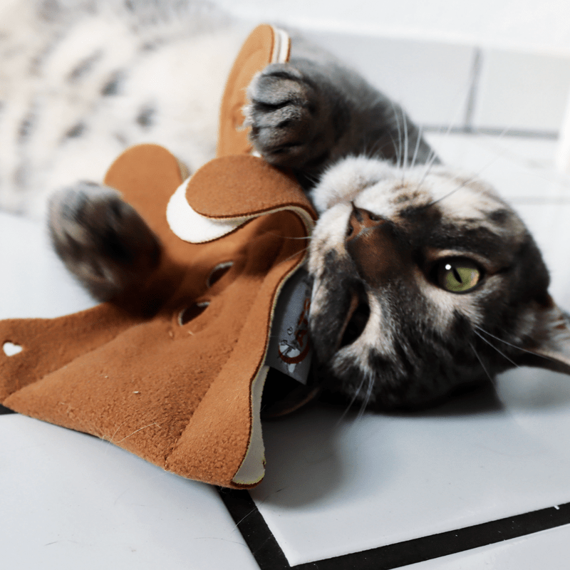 Lebkuchenfrau von 4cats mit spielender Katze