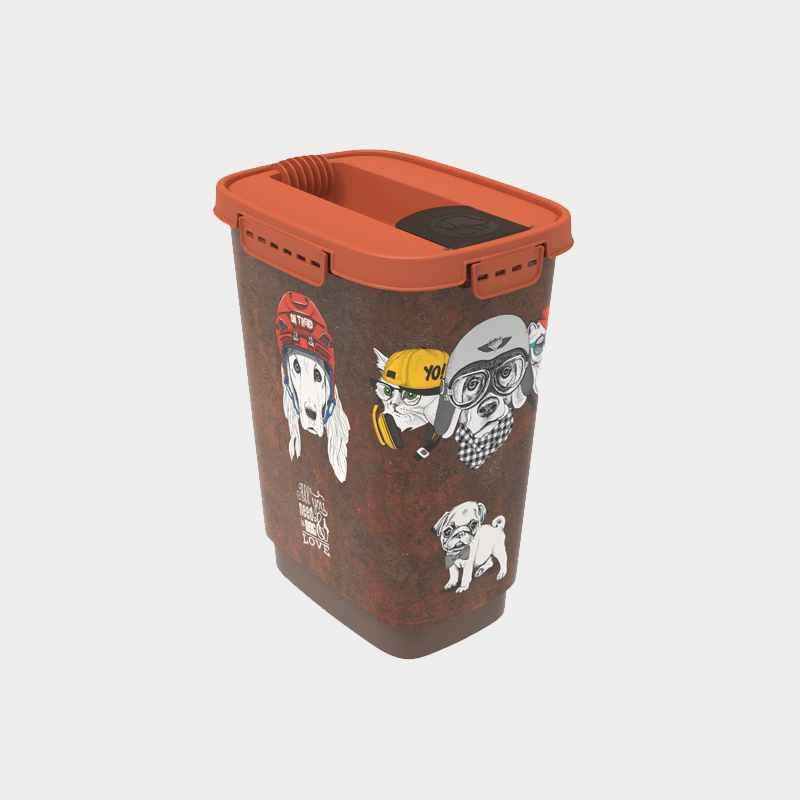 Food container Cody in the design Vintage Dog 10 l from Rotho MyPet