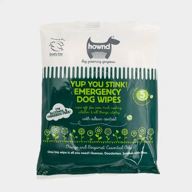 Vorderseite Yup You Stink! antibakterielle Notfall-Hundetücher von HOWND