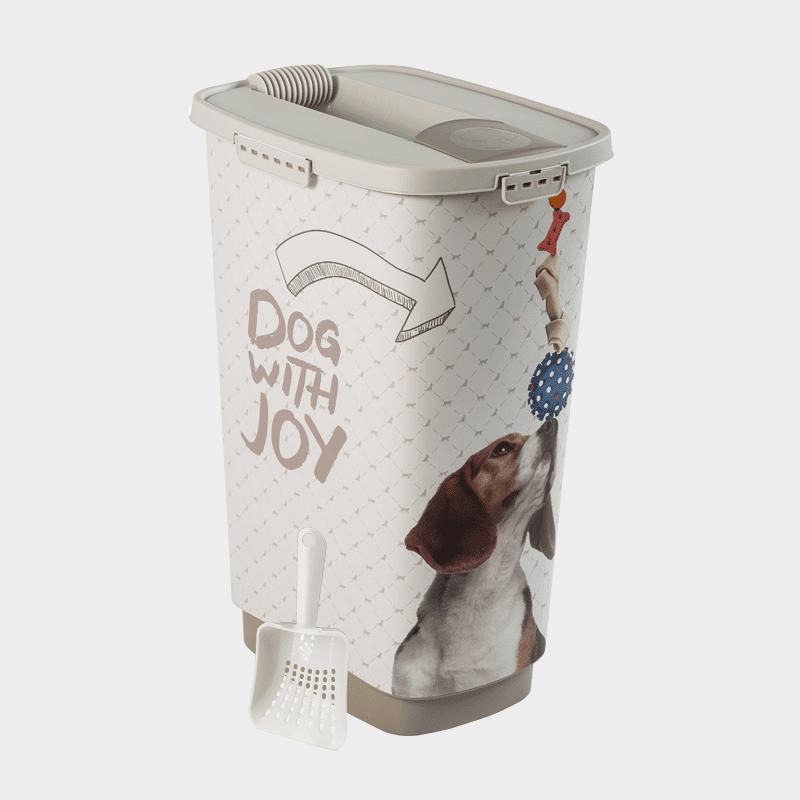 Rotho MyPet Cody Set Futterbehälter + Schaufel - Variante JOY Hund 25 l