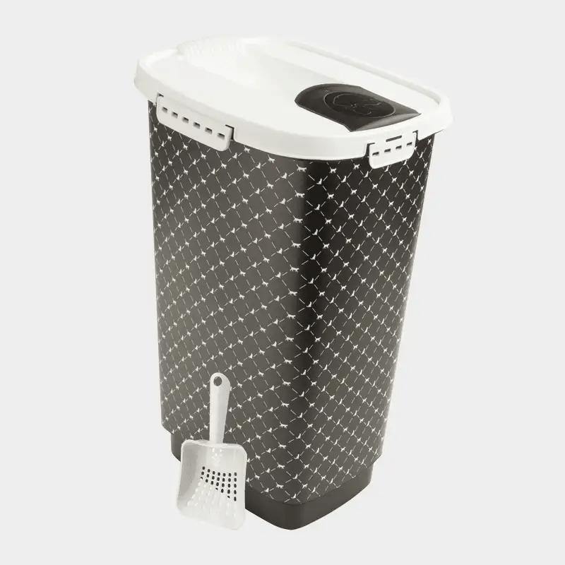 Rotho MyPet Cody Set Futterbehälter + Schaufel - Variante schwarz-weiß 25 l