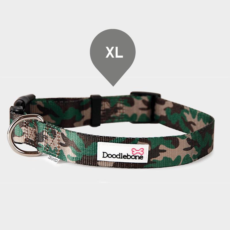 Gemustertes Camouflage Bold Halsband von Doodlebone® in der Größe XL