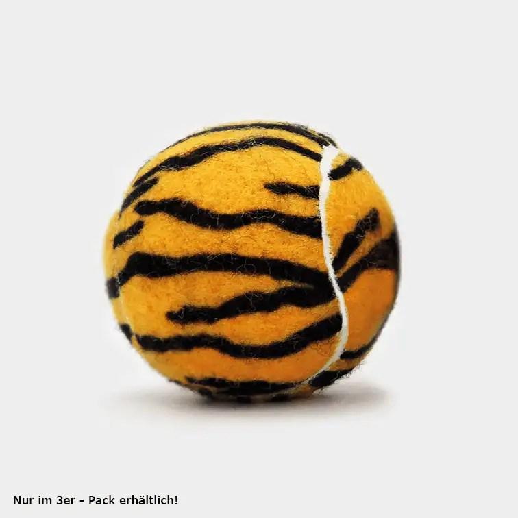 SPORTSPET Tennisball Dschungel Varianten einzeln mit Tigeraufdruck