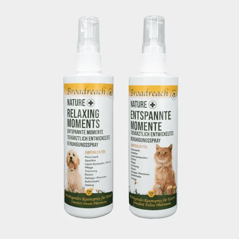 NaturePlus Entspannte Momente beruhigendes Raumspray von Broadreach in beiden Varianten für Hund und Katze