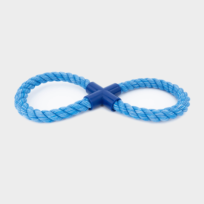 Einzelne, blaue Nuts for Knots Figur 8 von Happy Pet