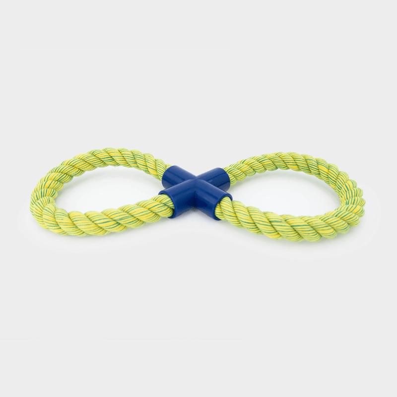 Einzelne, grüne Nuts for Knots Figur 8 von Happy Pet
