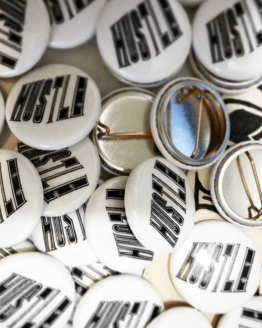 Hustle buttons