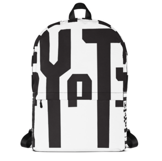Cryptic front view of backpack