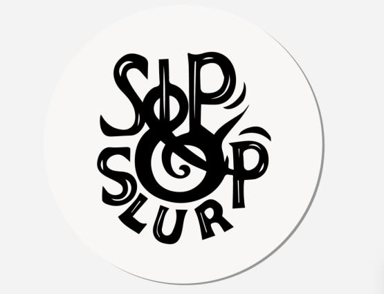 Sip & slurp coaster top view