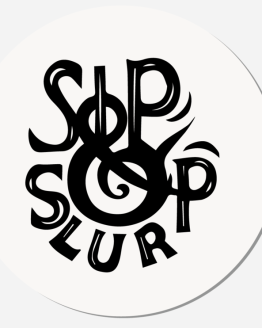 Sip & slurp coaster top view