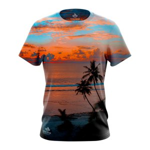 Sunset at sea beach tshirt