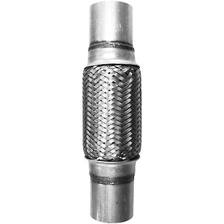2 1 4 x 10 universal stainless steel exhaust flex tube connector w extensions 14 22 overall length