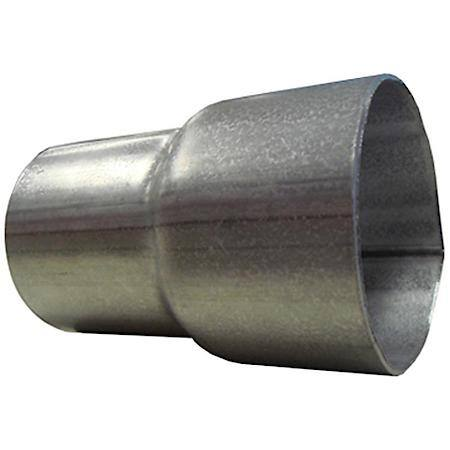 universal exhaust stainless steel adapter 2 1 2 22 id x 2 1 4 22 od