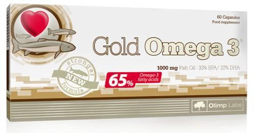 Gold Omega 3 - Fischöl Kapseln - 60 Kapseln - Olimp