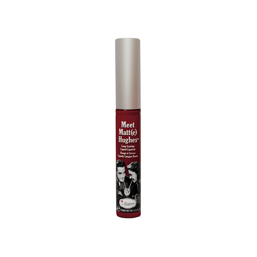 The Balm Hughes Loyal Liquid Lipstick Deep Red υγρό κραγιόν