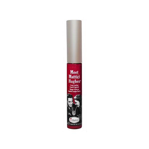 The Balm Hughes Dedicated Liquid Lipstick Berry Red κραγιόν χείλη ματ