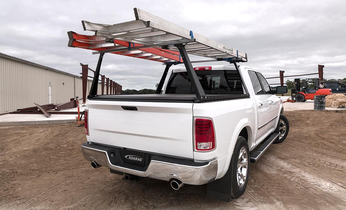adarac truck bed rack roll up cover combo