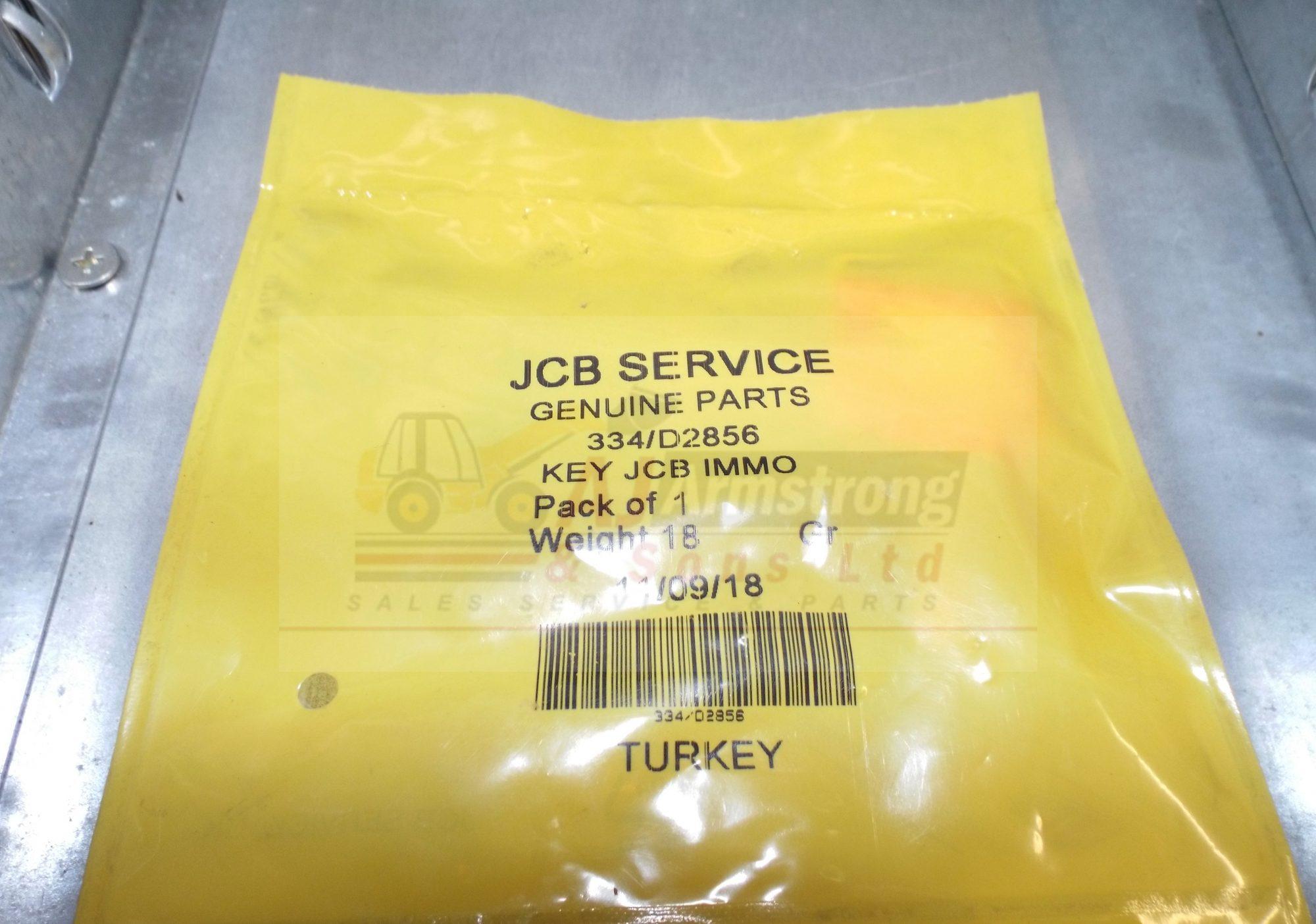 JCB Key Immobiliser Red (Master) (334/D2856)