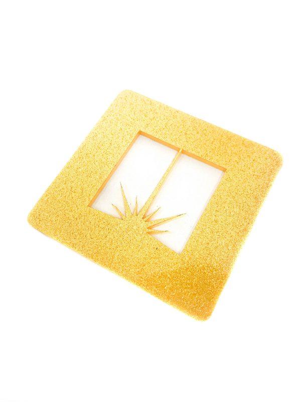 gold glitter acrylic