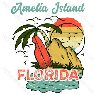 Amelia Island Florida T-shirt Design