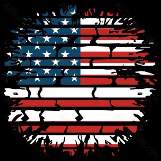 American Flag Brick Wall
