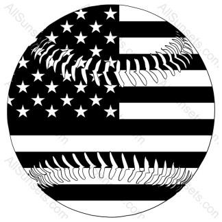 Baseball Shaped American Flag