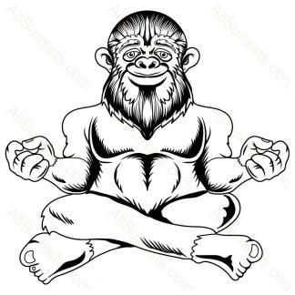 Bigfoot Meditating Vector