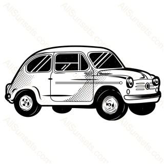 Classic Foreign Car Vector