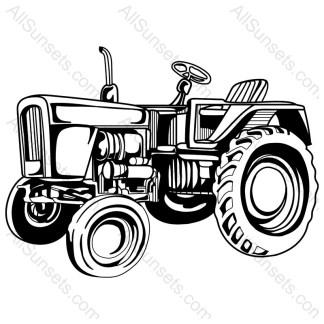 Farm Tractor Vector