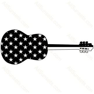 Guitar Shape American Flag