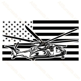 Helicopter American Flag