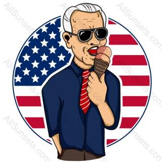 Joe Biden Ice Cream Patriotic Circle