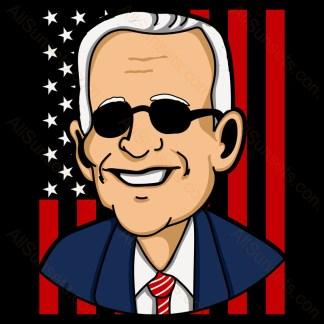 Joe Biden Portrait Patriotic Stars and Stripes