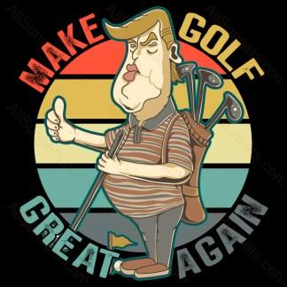 Make Golf Great Again Trump T-shirt Design