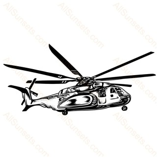 Military Helicopter Vector