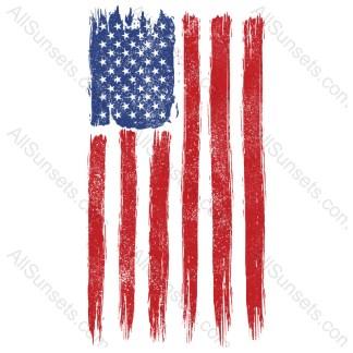 Grunge Battle Torn Patriotic Vertical Flag