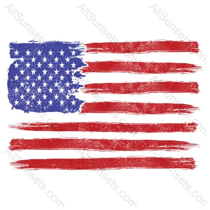 Heavy Distressed No White American Flag
