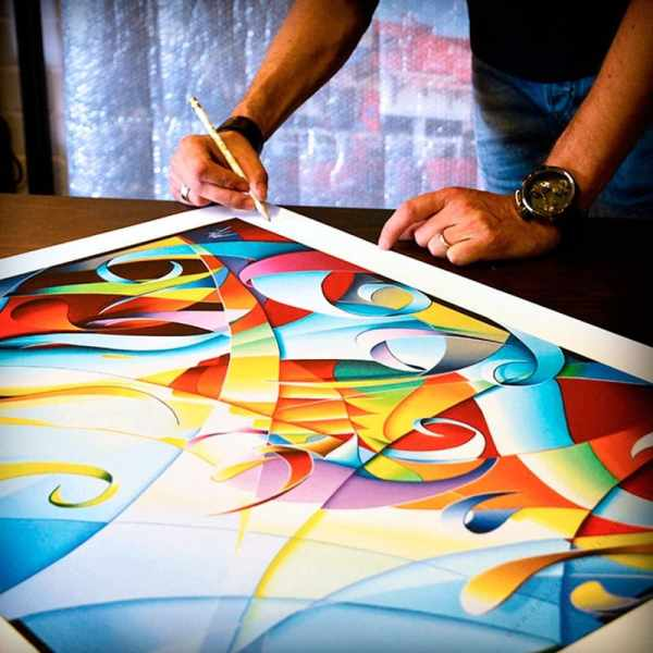 abstract colorful signed and numbered by artist
