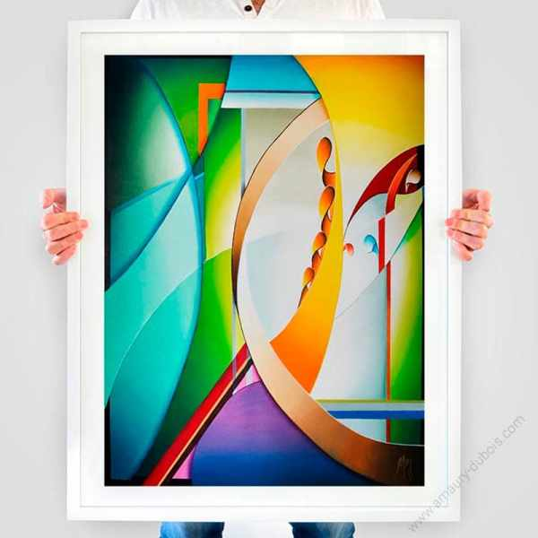 abstract art poster limited and signed by artist