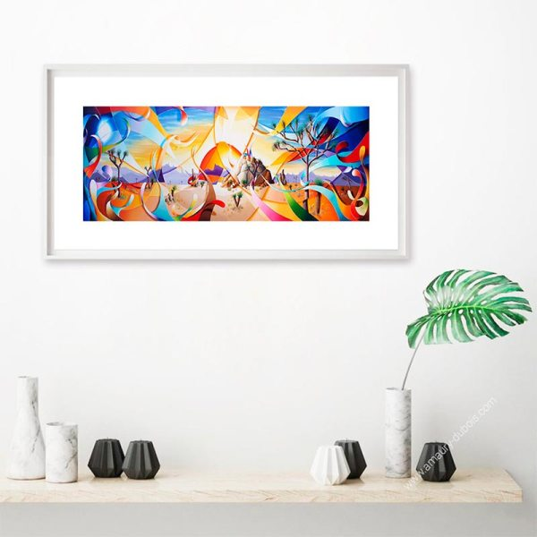 Désert et soleil - Reproduction Tableau art contemporain