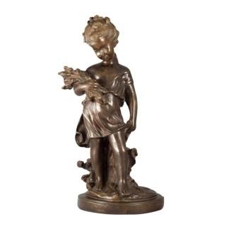 Bronzeskulptur Kind