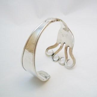 Spangenarmband Silber aus Gabel