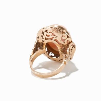Korallenkamee-Ring