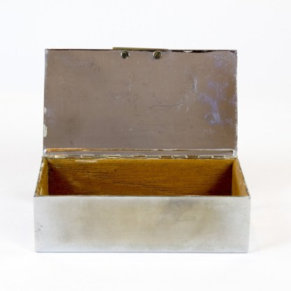 Aufbewahrungsdose aus Chrom mit Bakelit, um 1910/20