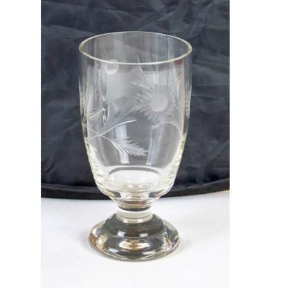 Satz von 4 Gläsern mit floralem Dekor, um 1920-30